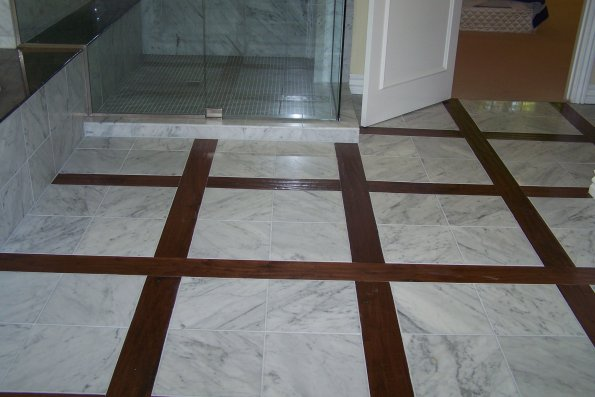 Tile Floor Inlays : Gallery custom wood tile inlays